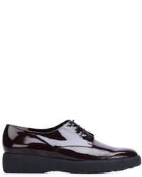 Zapatos con cordones de cuero morado oscuro de Robert Clergerie
