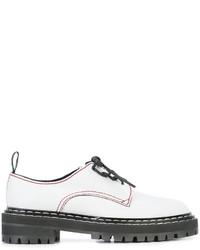 Zapatos con cordones de encaje blancos de Proenza Schouler
