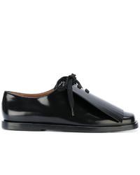 Zapatos con cordones de encaje negros de Marni