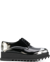 Zapatos con cordones de goma negros de Jil Sander