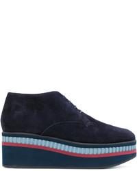 Zapatos con cordones de nubuck azul marino de Robert Clergerie