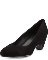 Zapatos con cuña de ante negros de Eileen Fisher