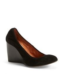 Zapatos con cuña de ante negros de Lanvin