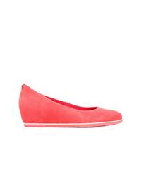 Zapatos con cuña de ante rojos de Högl