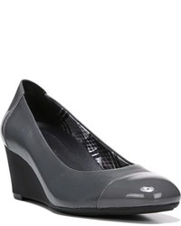 Zapatos con Cuña de Cuero en Gris Oscuro de Naturalizer