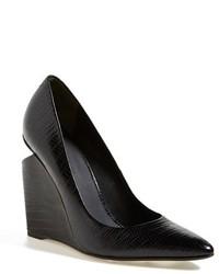 Zapatos con cuña de cuero negros de Alexander Wang