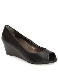 Zapatos con Cuña de Cuero Negros de Vionic