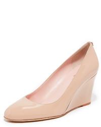 Zapatos con cuña de cuero rosados de Kate Spade