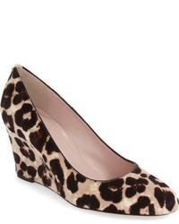 Zapatos con cuña marrón claro de Kate Spade