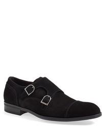 Zapatos con Doble Hebilla de Ante Negros de Ermenegildo Zegna