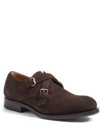 Zapatos con Doble Hebilla de Cuero en Marrón Oscuro de Aquatalia