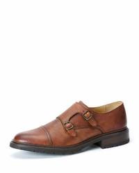 Zapatos con doble hebilla de cuero marrónes de Frye