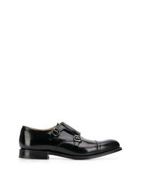 Zapatos con doble hebilla de cuero negros de Church's