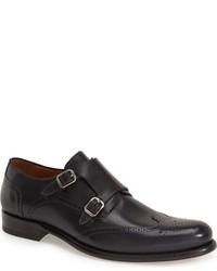 Zapatos con Doble Hebilla de Cuero Negros de Mezlan