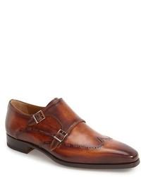 Zapatos con Doble Hebilla Marrónes de Magnanni
