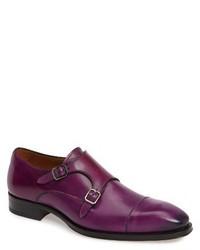 Zapatos con Doble Hebilla Morado Oscuro de Mezlan