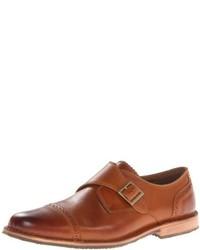 Zapatos con hebilla de cuero marrón claro