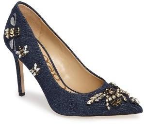 numerosos en variedad textura clara comparar el precio $159, Zapatos de tacón azul marino de Sam Edelman