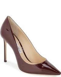 Zapatos de Tacón Burdeos de Jimmy Choo