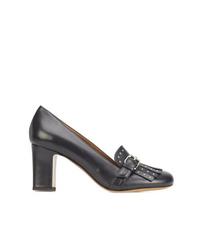 Zapatos de tacón con borlas de cuero negros de Tabitha Simmons