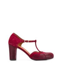Zapatos de tacón de ante burdeos de Chie Mihara