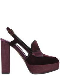 Zapatos de tacón de ante burdeos de Etro