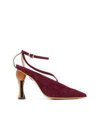 Zapatos de tacón de ante burdeos de Jacquemus