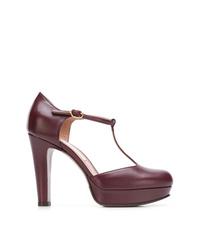 Zapatos de tacón de ante burdeos de L'Autre Chose