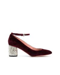 Zapatos de tacón de ante burdeos de Rochas