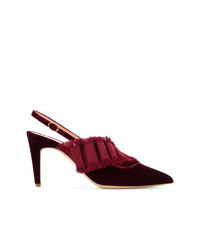 Zapatos de tacón de ante burdeos de Rupert Sanderson