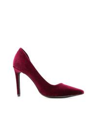 Zapatos de tacón de ante burdeos de Senso