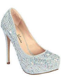 Zapatos de tacón de ante con adornos plateados