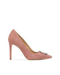 Zapatos de tacón de ante con adornos rosados de MICHAEL Michael Kors