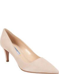 Zapatos de tacón de ante en beige