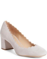 Zapatos de tacón de ante en beige de Chloé