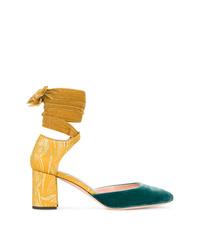 Zapatos de tacón de ante en multicolor de Rochas