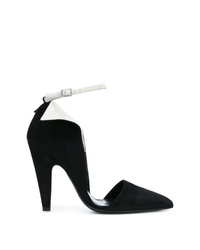 Zapatos de tacón de ante en negro y blanco