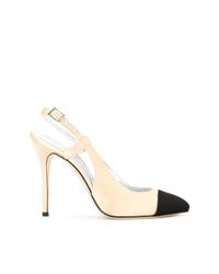 Zapatos de tacón de ante en negro y marrón claro