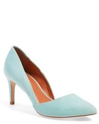 Zapatos de tacón de ante en verde menta de Rebecca Minkoff