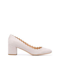 Zapatos de tacón de ante grises de Chloé
