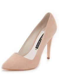 Zapatos de tacón de ante marrón claro de Alice + Olivia