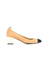 Zapatos de tacón de ante marrón claro de Lanvin