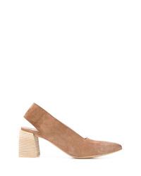 Zapatos de tacón de ante marrón claro de Marsèll