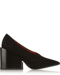 Zapatos de tacón de ante negros de Acne Studios