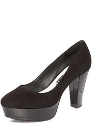 Zapatos de tacón de ante negros de Alice + Olivia