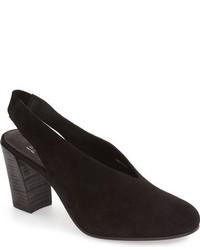 Zapatos de tacón de ante negros de Eileen Fisher