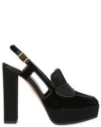 Zapatos de tacón de ante negros de Etro