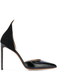 Zapatos de tacón de ante negros de Francesco Russo