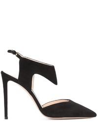 Zapatos de tacón de ante negros de Nicholas Kirkwood
