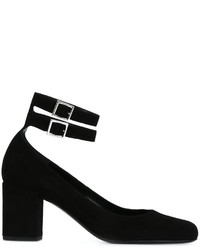 Zapatos de tacón de ante negros de Saint Laurent